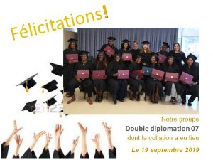 Double diplomation 07 - Collation des grades -